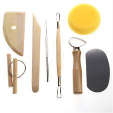 8pcs Pottery Tools Set Ceramics Molding Clay Tools Wood Sponge Tool Set KI