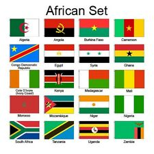 African Africa 2x3 Flag Set of 20 Country Countries Polyester Flags grommets