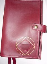 Narcotics Anonymous NA Basic Text 6 How & Why BURGUNDY Deluxe Double Book Cover