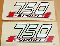 "750 SPORT Ducati 5 X 2"" vinyl transfer resembles plastic side panel badges, pair"