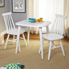 New Simple Living Fiona 2 piece set Rubberwood Kids chairs White