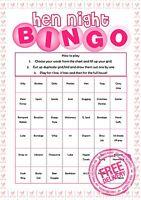 HEN NIGHT DO BINGO Hen Party Games Rude Funny Pink