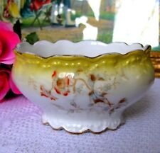 Antique SM Limoges Elite Nut Bowl France Depose Hand Painted Circa Late 1800s