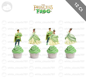 12 The Princess and the Frog Tiana Naveen Cupcake Cake Topper Birthday Party
