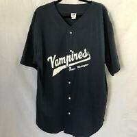 Badger Sports Vampires Jersey Twilight Forks Washington Blue Button Up