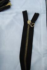 Riri Black and gold zip openended double zip 64cm