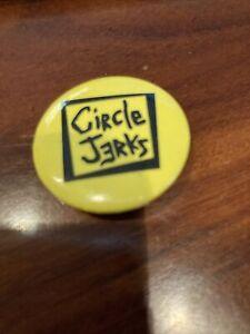 Circle Jerks Original Vintage Frontier Records Badge Pin Punk Rock