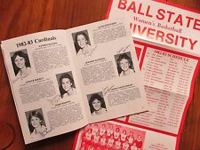 1982 Ball State Women's Basketball Guide(14 Signed/KAREN BAUER/KAREN FITZPATRICK