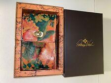 New ListingNew~Patricia Nash Handmade Leather Floral Multicolor Wristlet crossbody