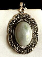 New Item! Hand-Crafted Vintage Natural Burmese Jade Pendant.S.Eng