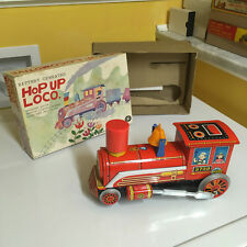 VINTAGE MASUDAYA (MODERN TOYS), TIN, HOP UP LOCO FULLY WORKING W/BOX. SWEET!