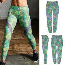 Large  Shock Absorber Activewear Full Length Leggings Geometric Print Womens