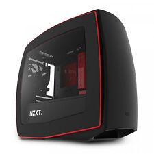 NZXT Manta CA-MANTW-M2 Mini-ITX Computer Case, Side Panel Window Matte Black/Red