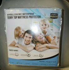 Hypoallergenic Waterproof Terry Top Mattress Protector Utopia Bedding Twin XL