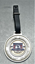 2010 Us Open Golf Bag Tag Pebble Beach Metal With Leather Strap