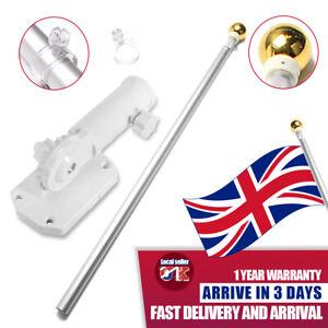 Aluminum 5FT Telescoping Flag Pole Portable Flagpole Holder Mount Bracket Set UK