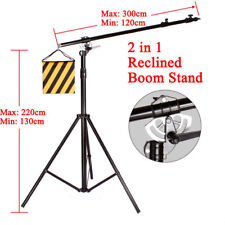BA06 Double Heavy Duty 2-in-1 500CM Rotatable Studio Boom Stand Light Stand 7KG
