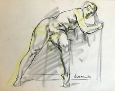 Harry Carmean dynamic life drawing of female nude 1960