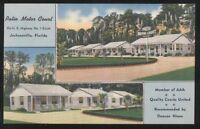 Postcard JACKSONVILLE Florida/FL Patio Motel Motor Court View 1950u0027s