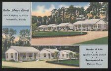 Postcard Jacksonville Florida/Fl Patio Motel Motor Court view 1950's