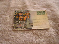 1934 Chicago's Worlds Fair Souvenir  Postcard Picture Set