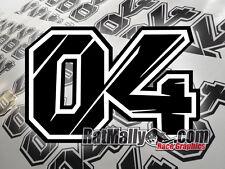Andrea Dovizioso Ducati Moto Gp 04 Números Para Carreras 200x133mm Pegatinas -