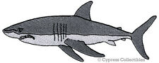 New ListingJaws Patch iron-on Great White Shark embroidered Man-Eating Fish applique scuba