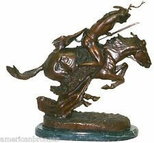 Cheyenne Real Bronze Collectible Sculpture Statue by F. Remington Mini