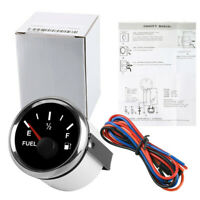 52mm 240-33 ohms Fuel Level Gauge Meter For 12/24V Car Boat Marine Yacht