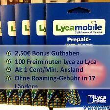 Lycamobile Sim Karte 0€ + 2,50€ Bonus nach 1.Aufl. ✔D2 Netz ✔Ausland günstig