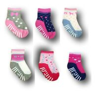 Baby Girl Toddler ABS Anti Non Slip Half Terry Cotton Socks 9 months to 7 years