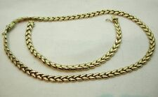Lovely 9ct Gold Fancy Link Necklace And Matching Bracelet