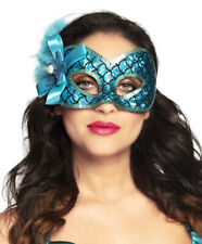 Ladies Princess Mermaid Mask Sea Venice Masquerade Eye Mask Aqua Halloween NEW