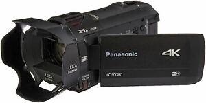 Panasonic 4K Ultra HD Video Camera Camcorder HC-VX981K, 20X Optical Zoom, 1/2.3-