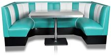 HW-120/120 American Diner Bench Seating Furniture 50´s Retro USA Style