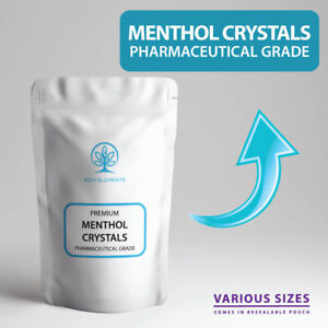Menthol Crystals NATURAL ORGANIC Pharmaceutical Grade - ALL SIZES