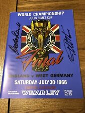 Geoff Hurst And Gordon Banks Signed 1966 World Cup Final Programme Proof
