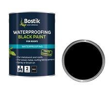 BOSTIK BITCOTE BLACK BITUMEN PAINT FOR ANTI CORROSION & WATER PROOFING 1 LTR