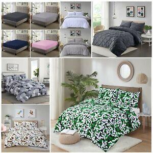 Deep Fitted Sheet  Pintuck Duvet Set  Printed Duvet Set  Bedding sets Bedsheets