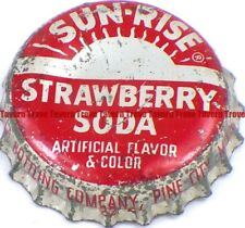 1940s Minnesota PINE CITY Coca Cola Bottling SUN-RISE STRAWBERRY SODA Cork Crown