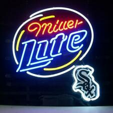 "Chicago White Sox Miller Lite Neon Sign 20""x16"" Beer Light Lamp Display Windows"