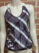 DIESEL Strappy Top Plaid Ladies Size 6