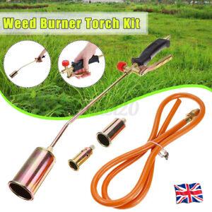 65mm Iron Weed Wand Burner Moss Fungus Killer Gas Flame Gun Garden +1.5M Hose