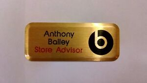 Name Badges-Full Colour Personalised-ID/Staff/Corporate-Magnetic or Pin Fixing