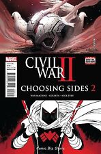 CIVIL WAR II CHOOSING SIDES #2 (2016) 1ST PRINTING