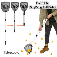 Telescopic PingPong Pick Up Net Training Table Tennis Ball Picker Hand Foldable