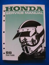 Honda 1988 NX125 NEW Factory Shop Service Manual
