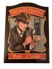 English Pub Sign Sherlock Holmes Pub London Wooden Sign