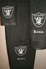 Raiders Personalized 3 Piece Bath Towel Set Football Raiders any color