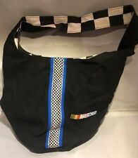 Race Lady Nascar Purse/Bag Checker Embroidered Black Boho Canvas